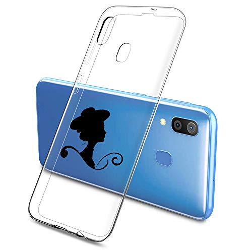 Suhctup Compatible con Samsung Galaxy A10/M10 Funda Silicona Transparente con Dibujos Lindo Cárcasa Ultrafina Suave Gel TPU con Animados Diseño Patrón Antigolpes Proteccion Cover,Mujer