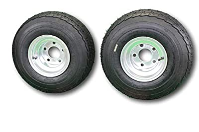 Antego Set of 2 215/60-8 (18.5x8.50-8) 5 hole Galvanized Trailer tire wheel assemblies