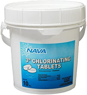 Nava Chemicals 652101250 3-Inch Wrapped Trichlor Tablets, 10-Pound