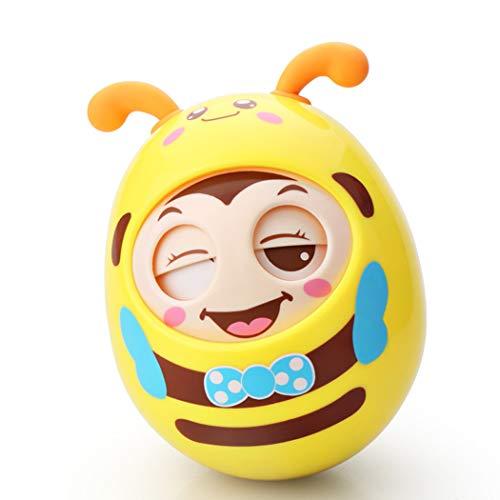 Juguete Adorable Sliciv Roly-Poly Tumbler Baby Doll con Blink y sonajero función Tumbler, niños pequeños y Juguetes educativos para niños Regalo - Amarillo