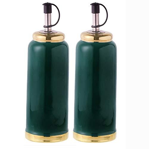 Olivenölspender, Ausgießersauce und Essigflasche für die Küche