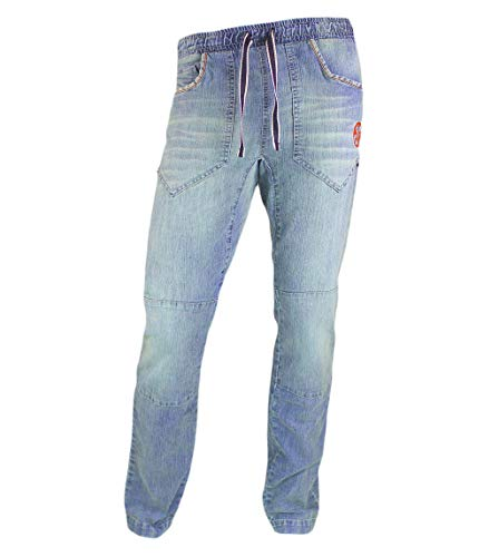 Jeanstrack Montesa Denim Pantalón de Escalada-Trekking, Hombre, Dirty, XL