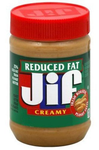 Jif Creamy Reduced Fat Peanut Butter Spread, 16-Ounce (Pack of 6)