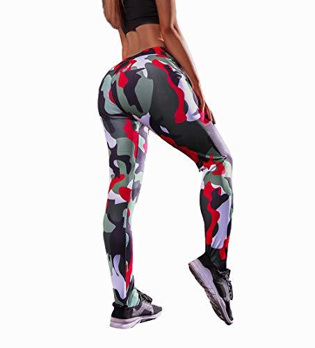 Wo nice Leggings Casuales De Las Señoras Levantamiento De La Cadera Anti-Aire Libre De Deportes Leggings Hip-Cintura Hip-Levantamiento Fitness Pantalones,B,M