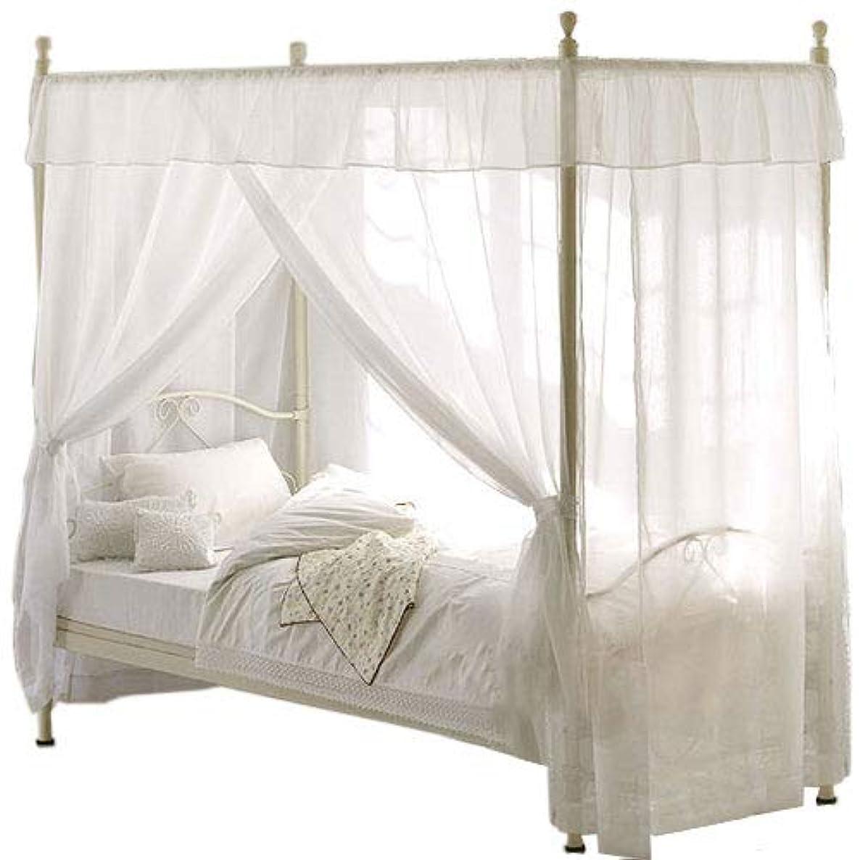 つま先機構ペネロペぼん家具 ベッド 天蓋付き シングル お姫様ベッド プリンセスベッド パイプベッド 天蓋カーテン