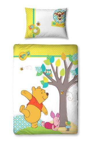 Character World 125 x 150 cm Disney Winnie the Pooh Forest Junior Panel Duvet Set, Multi-Color