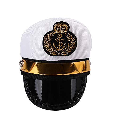XJOE Huisdier Hoed Sailors Zee Kapitein Witte Kapitein Hoed Hond Kat Puppy Zeeman Halloween Cosplay Kostuum Hoed