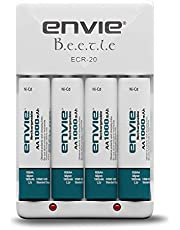 Envie Beetle Charger with Envie 4xAA Ni-Cd 1000 Mah Batteries