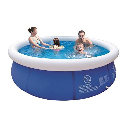 Jilong Marin Blue Rundpool Ø 300x76 cm Quick-Up Swimming Pool Fast-Set Schwimmbad Kinder und Familien Schwimmbecken Schwimmbad für Garten und Terasse, Ersatzbecken ohne Zubehör