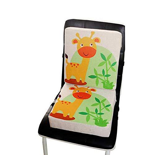 Flying Hedwig Boostersitz Esszimmer Stuhl Sitzerhöhung Kinder Kindersitze, mit demontierbar einstellbar Riemen, ideal für Hochstuhl Kindersitze (Giraffe)