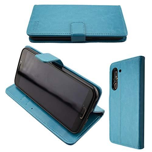 caseroxx Handy Hülle Tasche kompatibel mit Doro 8080/8062 Bookstyle-Hülle Wallet Hülle in hellblau