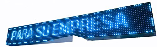 CARTEL LED PROGRAMABLE LETRERO LED PROGRAMABLE PANTALLA LED PROGRAMABLE (128 * 16 cm, AZUL) ROTULO LED PROGRAMABLE CARTEL ELECTRÓNICO ANUNCIA TU NEGOCIO/PROGRAMMABLE LED PANEL BANDEROLA LED
