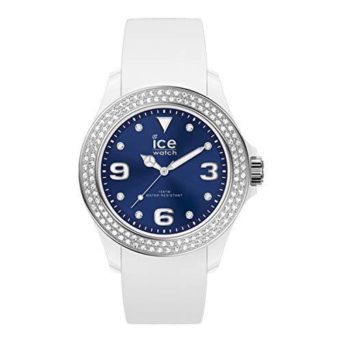 Ice-Watch - ICE star White deep blue - Weiße Damenuhr mit Silikonarmband - 017235 (Medium)