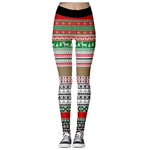 Vacanza Alta Vita Legging 3D Stampa Digitale Legging Elastico per Halloween Festa Natale