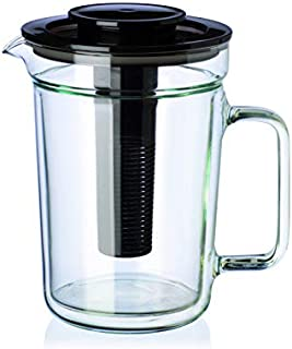 Simax Double Wall Jug With Lid, Clear, 1 Litre, SMX.51044
