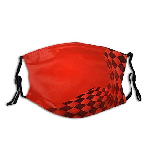 Zvezvi, maschera per il viso, con bandiera della corsa, ondulata, unisex, per esterni, antipolvere, passamontagna riutilizzabile, con 2 filtri