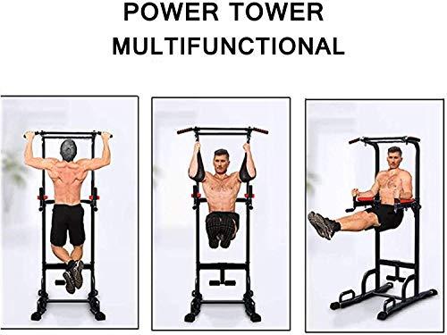 Xn8 Sports Torre di Potenza - Stazione di Pull up Regolabile - Stazione Verticale Multi Funzione per Esercizi di potenziamento - Power Tower Dip Bar