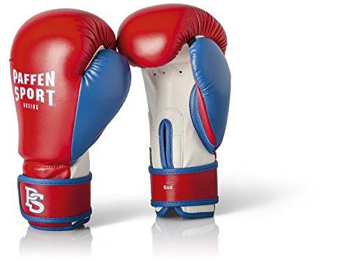 Paffen Sport Kids Boxhandschuhe für das Training – rot/blau/weiß – 8UZ