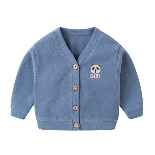 manadlian Manteau en Tricoté Enfants Bébé Fille Veste Couleur Unie Sweater Bouton de Costume Pull Chic Cardigan Veste Mignon Blouson Vêtements 2019