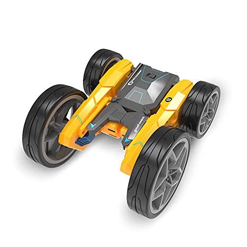 WZRYBHSD Coche de control remoto eléctrico Coche de acrobacias RC de alta velocidad Vehículo deformado por rollo de doble cara 4X4 Off-road Rock Crawler Exterior e interior Mejor cumpleaños Regalos de