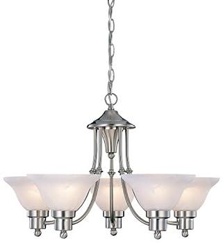 Hardware House 544452 54-4452 Bristol 5 Light Chandelier 24 x15  Satin Nickel