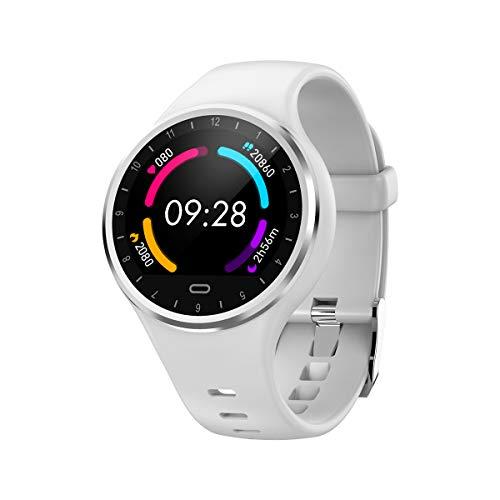Smart Watch, Bluetooth Smartwatch voor jongens meisjes tiener kinderen, IP67 waterdicht, Call Reminder,SMS,Whatsapp Reminder,Hartslagmonitor, stappenteller, Fitness Tracker,Smartwatch voor IOS en Android, Kleur: wit