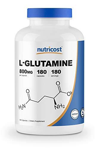 Nutricost L-Glutamine 800mg, 180 Capsules - Gluten Free, Non-GMO