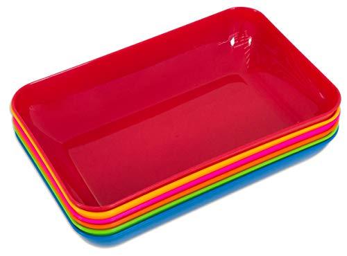 Betzold Bastelschalen-Set mit 6 stapelbaren Materialschalen in schönen Farben - Aufbewahrungsschalen