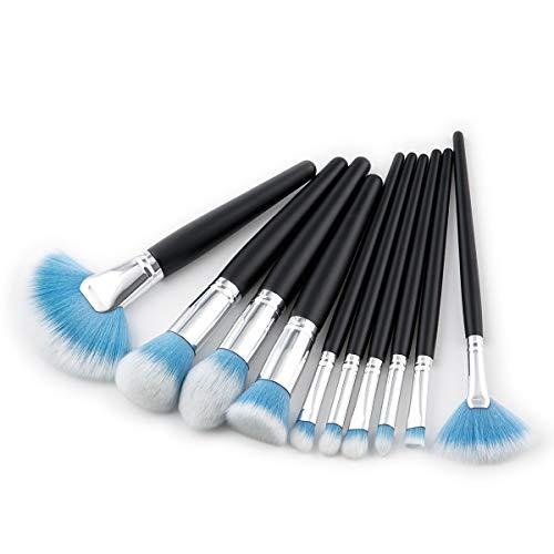 Lot de 10 pinceaux de maquillage doux et faciles à transporter pour la peau et doux