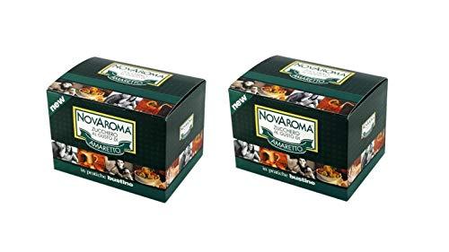Aromatisierter Zucker - Amaretto - 2 x 50 Beutel - Novarese Zuccheri