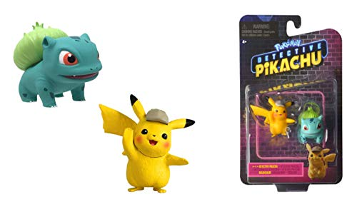 Lively Moments Pokémon Movie Meisterdetektiv Pikachu Battle Pack / Kinofilm Sammelfiguren / Spielfiguren Detektiv Pikachu & Bisasam