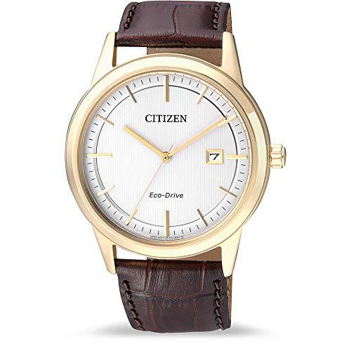 Citizen uomo-Orologio da polso al quarzo in pelle AW1233-01A