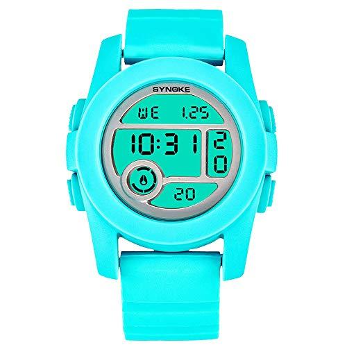 Relojes para niños Relojes de Pulsera multifunción 50M Reloj Impermeable LED Digital Doble acción Reloj