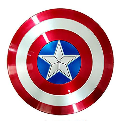 Escudo de disfraz de plstico de Capitn Amrica para adultos, talla nica, accesorios para hombres de Amrica, escudo de Cosplay, accesorios de Los Vengadores de Marvel