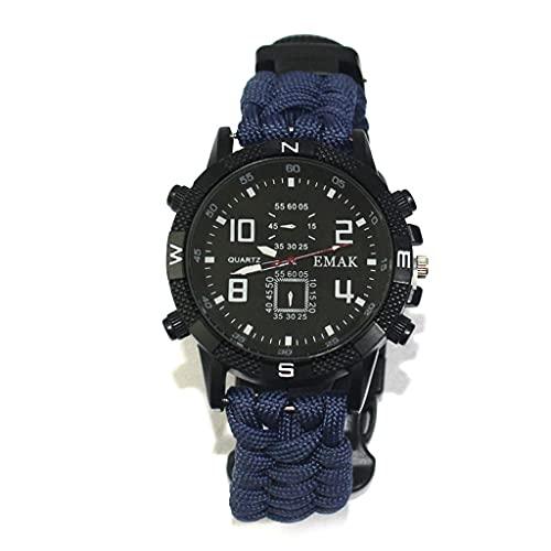 ZLDGYG TBDKY Reloj Militar para Hombre, Reloj De Pulsera Resistente Al Agua, Reloj De Cuarzo LED, Reloj Deportivo Al Aire Libre, Termómetro De Brújula, Reloj De Emergencia