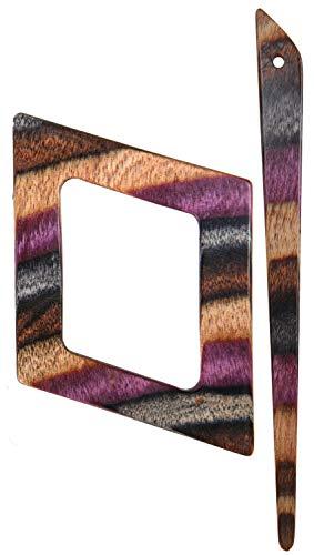 KnitPro K20825 lila Strickverschluss Alpha, Holz, Multi, 14 cm