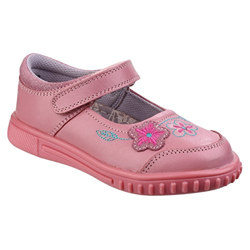 Hush Puppies Enfant Lottie Filles Junior Casual Chaussures Plates Cuir Mary-Jane Rose 19,5