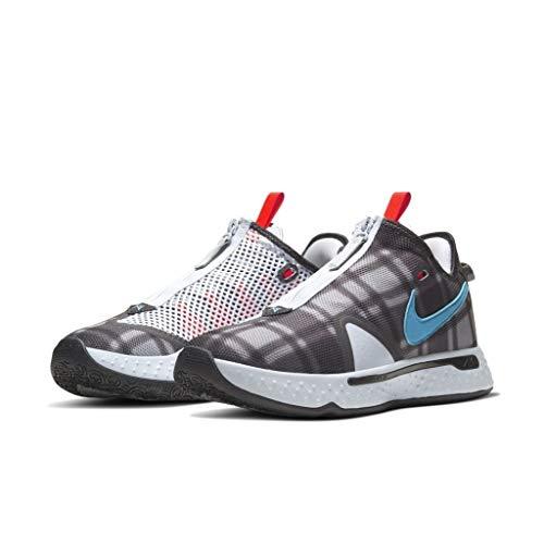 Nike Pg 4 Uomini Pallacanestro Moda Sneaker Cd5079-004, (Calcio Grigio/Laser Blu-chiaro Grigio Fumo), 40.5 EU