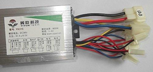 36V48V 800W controlador de motor eléctrico cepillado DC control de velocidad del motor para Scooter eléctrico triciclo cepillado controlador (36V800W)