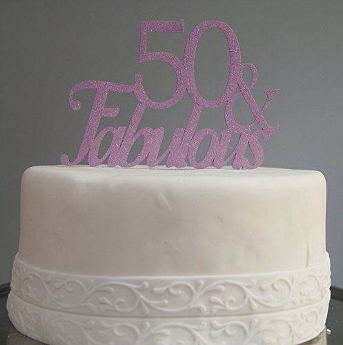All About Details Purple 50-&-Fabulous Cake Topper, 6 x 8