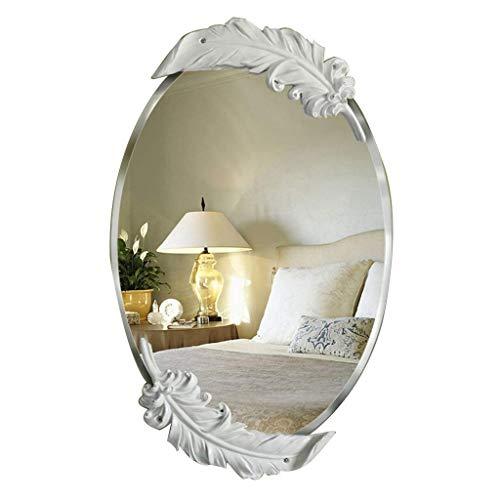 YASEking Espejo de Maquillaje Llevado Escritorio Retro Europeo Barroco Escritorio Espejo de baño Lindo Maquillaje Creativo HD Princesa Espejo