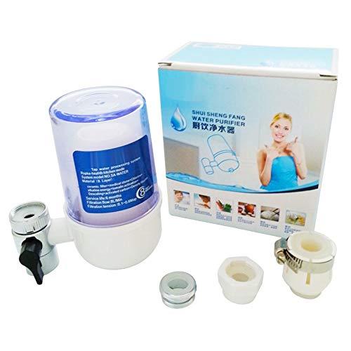 Lynn025Keats - Filtro de grifo de cocina lavable de cerámica para grifos de montaje de grifos purificador de agua, filtro de óxido y eliminación de bacterias