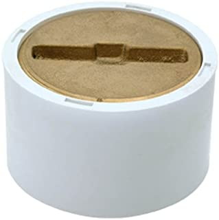 EZ-FLO 0 15336 cleanout with brass plug drain fitting, 3