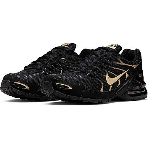 Nike Men's Air max Torch 4 Running Shoes, Black/Metallic Gold, 8.5