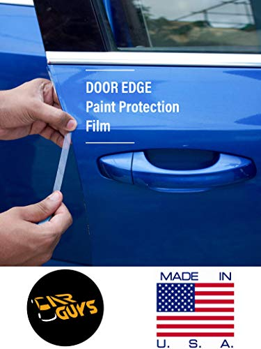 CAR GUYS- Car Door Edge Guard Paint Protection Film Anti Scratch Guard Protector Transparent Invisible PPF for All Cars- (Length:92cmx1cm, 4 Strips)
