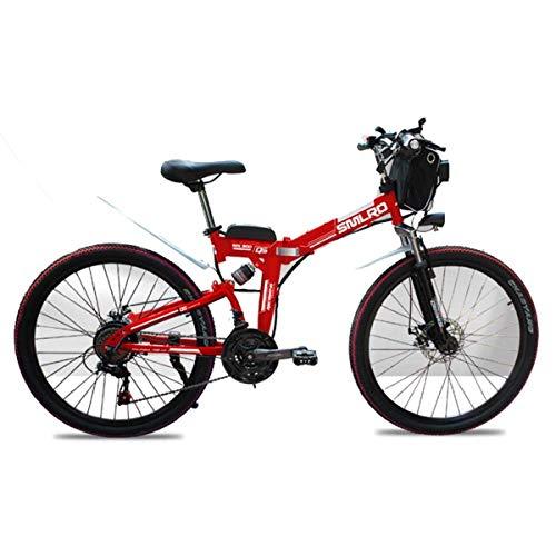 NZ-Children's bicycles Bicicleta de Montaña Eléctrica de 48 V, Bicicleta Eléctrica Plegable...