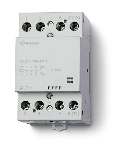 Finder serie 22 - Contactor modular 6 contacto 40a 24v 3na+1nc mecanismo
