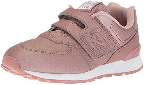 New Balance YV574 KA Rosa Scarpe Bambina Glitter Strappi Sneakers 34.5