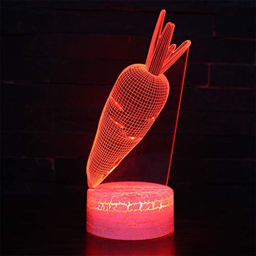 Veilleuse 3D Simple Light/LED, lumière de sculpture art tactile 7 couleurs, panneau acrylique, base en ABS, câble USB (21,5 cm × 15,0 cm × 5,3 cm)