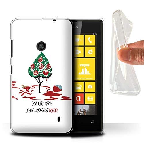 Hülle Für Nokia Lumia 520 Fantasie-Wunderland-Kunst Herzkönigin/Malerei Design Transparent Dünn Weich Silikon Gel/TPU Schutz Handyhülle Case